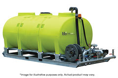"TTi InterLoc 15000L | Modular Tank with Steel frame, 2"" Poly outlet in each"
