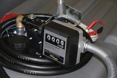 TTi 4 digit mechanical flow meter (000.0L) with 1 inch ports